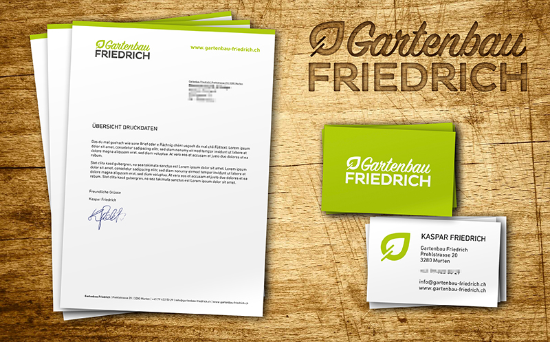 Briefschaften Gartenbau Friedrich
